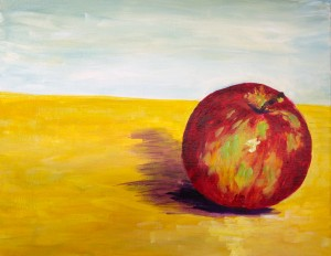 Bright Apple Fruit Painting by Rachel Lynn Heisey Lancaster PA