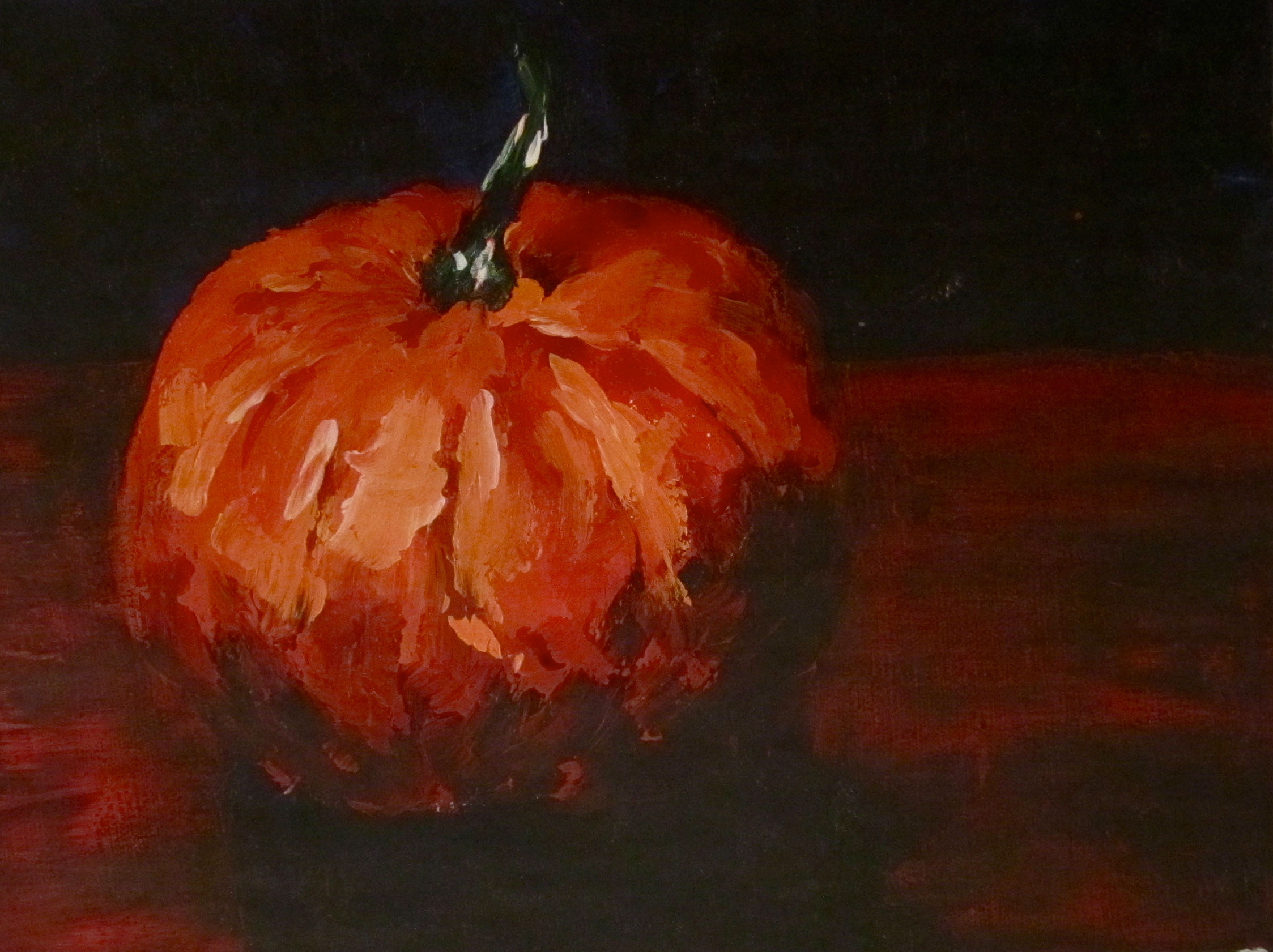 Stately Pumpkin Acrylic PAinting painted by Rachel Lynn Heisey Lancaster, PA