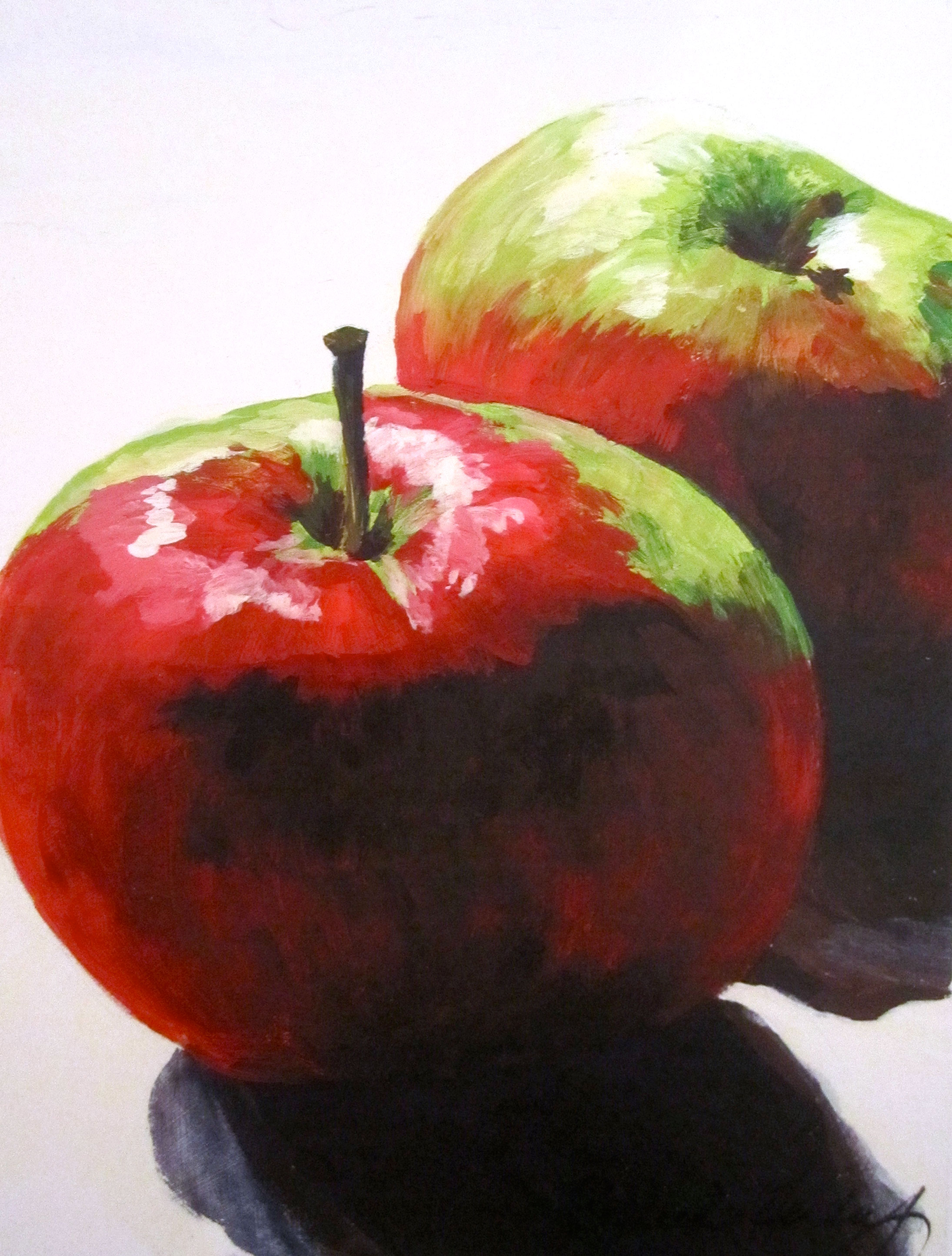 Contrasted Apples Painting by Rachel Lynn Heisey Lancaster PA