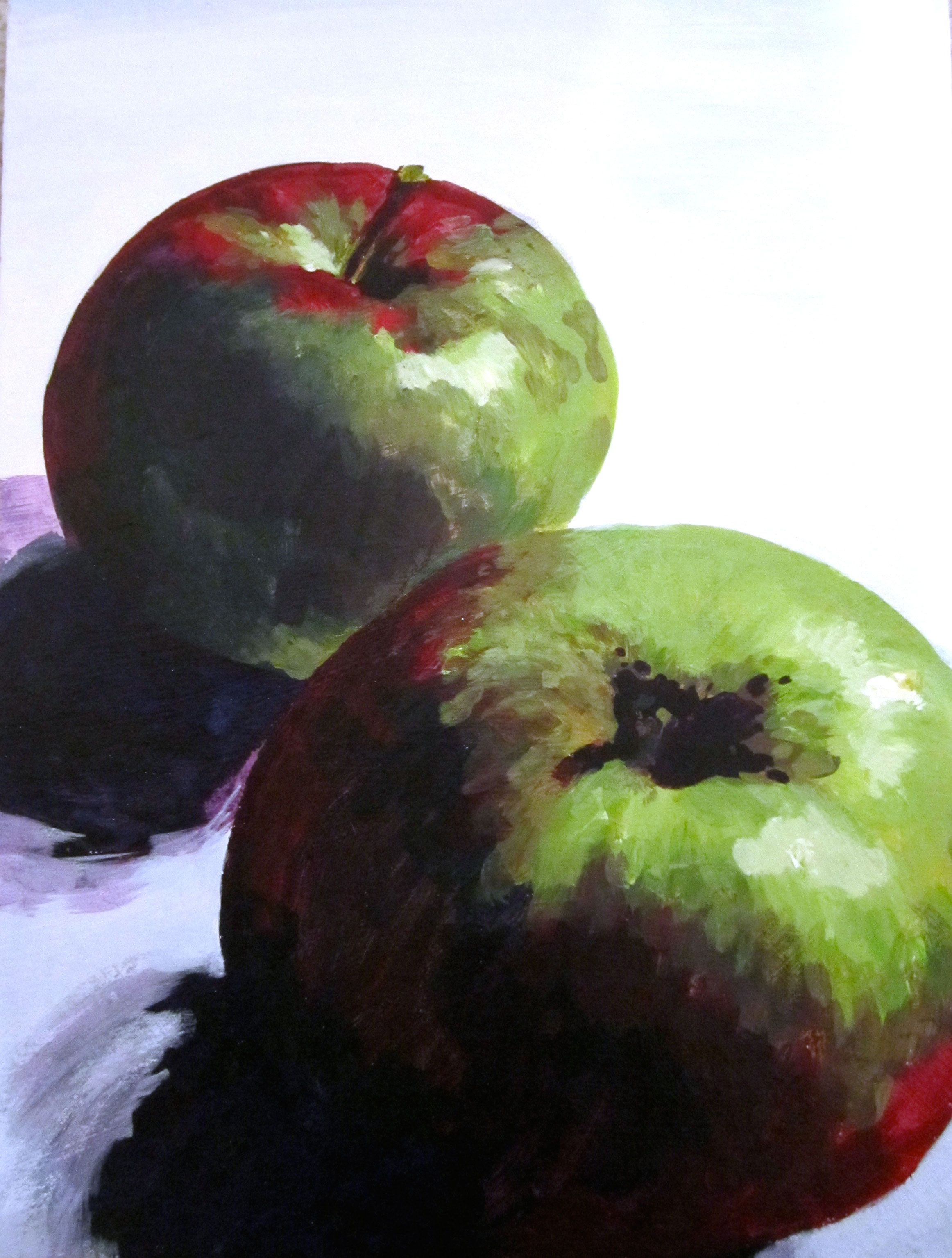 Apple Painting by Rachel Lynn Heisey