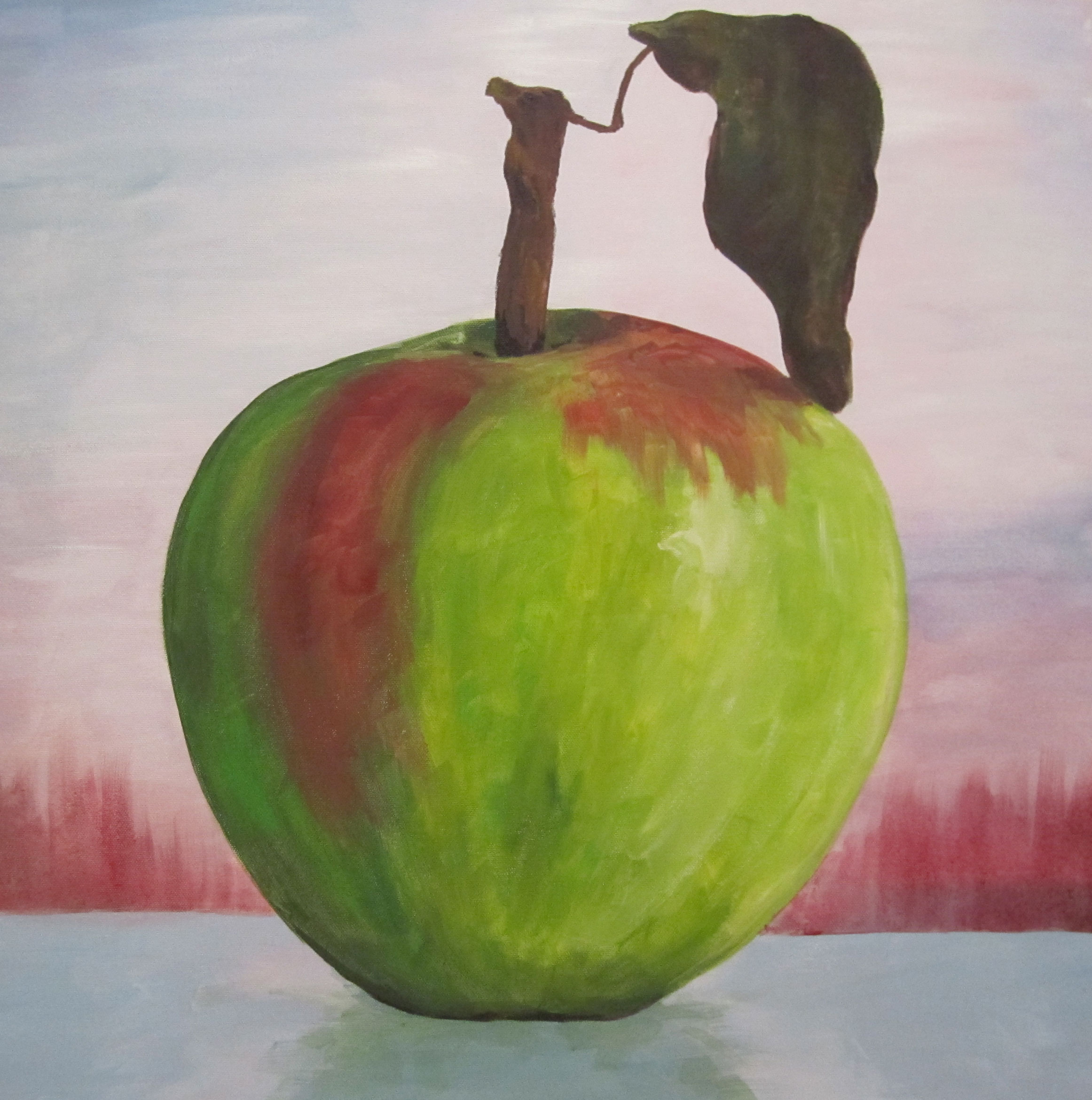 Large Apple Painting by Rachel Lynn Heisey Lancaster PA Artist